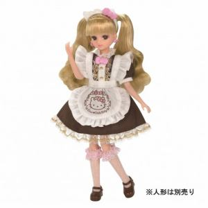タカラトミー リカちゃんドレス ハローキティ スイーツカフェ ドレスセット