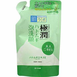 ロート製薬(ROHTO) 肌ラボ 極潤ハトムギ泡洗顔 つめかえ用 (140mL)