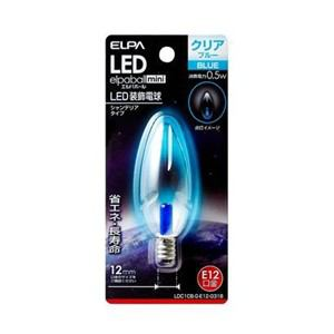 ELPA LDC1CB-G-E12-G318 LEDシャンデリア球E12 青色