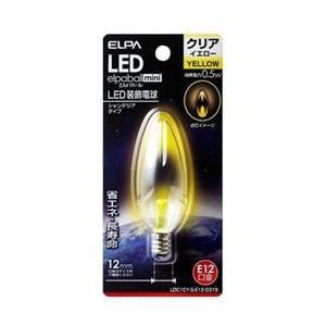 ELPA LDC1CY-G-E12-G319 LEDシャンデリア球E12 黄色