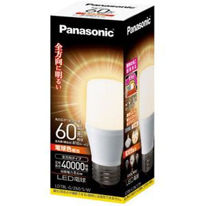 Panasonic LED電球 T形タイプ 8.4W(電球色相当) LDT8LGZ60SW