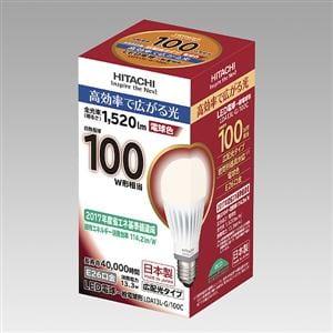 日立 LED電球 (一般電球形・E26口金・広配光タイプ) 電球色 LDA13L-G/100C