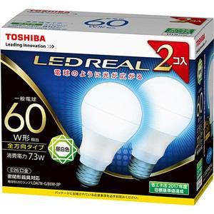 東芝 LED電球(2個セット) 昼白色 E26口金 一般電球型 810lm 60W形相当 LDA7N-G/60W-2P