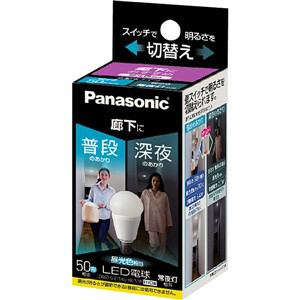 パナソニック 調光器非対応LED電球 (小型電球形/明るさ切替えタイプ・廊下向け/全光束600[40]lm/昼光色・口金E17) LDA6D-G-E17/KU/