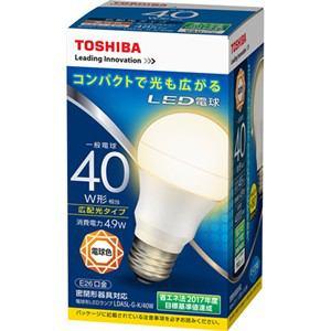 東芝 LED電球(一般電球形・全光束485lm/電球色・口金E26) LDA5L-G-K/40W