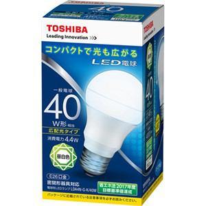 東芝 LED電球(一般電球形・全光束485lm/昼白色・口金E26) LDA4N-G-K/40W