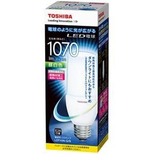 東芝 LED電球 「E-CORE」 (一般電球T形・全光束1070lm/昼白色・口金E26) LDT10N-G/S
