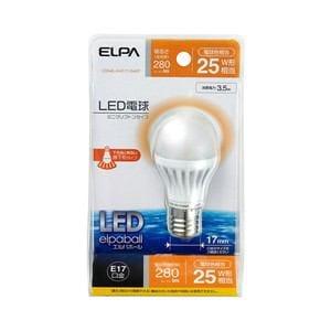 ELPA LED電球 ミニクリプトン球型 25W形 E17 電球色 LDA4L-H-E17-G407