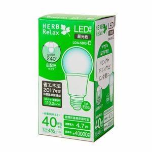 HERBRelax LDA-5DG-C LED電球 40WE26 昼光色 広配光