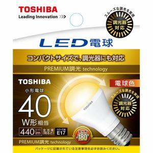 東芝 LED電球 小形電球形 440lm(電球色相当)E17 広配光タイプ LDA5L-G-E17/S/D40W