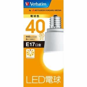 三菱ケミカルメディア LDA4LE17GV4 LED電球17口金 電球色 40W相当