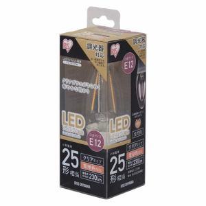 アイリスオーヤマ LDC2L-G-E12/D-FC LEDフィラメント電球 シャンデリア球タイプ 25W形相当 電球色