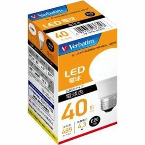 三菱ケミカルメディア LDA4L-G/LCV2 LED電球 40W相当 電球色