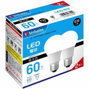 三菱ケミカルメディア LDA7D-G/LCV2X2 LED電球 60W相当 昼光色