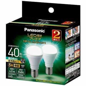 パナソニック LDA4NGE17Z40ESW22T LED電球プレミア 4.0W 2個セット(昼白色相当)