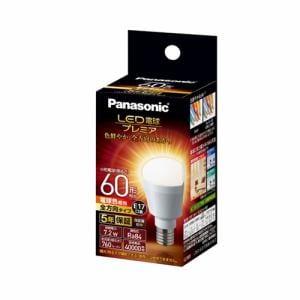 パナソニック LDA7LGE17Z60ESW2 調光器非対応LED電球 「LED電球プレミア」(小型電球形・全光束760lm/電球色相当・口金E17)