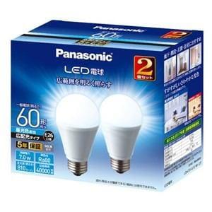 パナソニック LDA7DGEW2T LED電球 一般電球形 810lm(昼光色相当)(2個セット) Panasonic