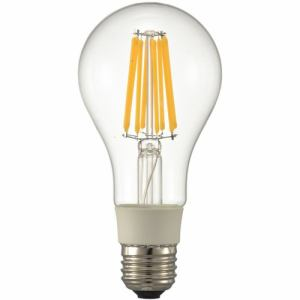 オーム電機 LDA12L/D C6 LED電球 フィラメント E26 100形相当 クリア 電球色 調光器対応