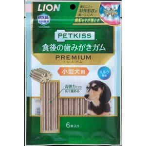 ライオン商事  PETKISS食後の歯みがきガムプレミアム小型犬用  6本