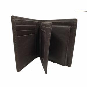 ケイツー KG3369BR 二つ折り横型札入   ブラウン