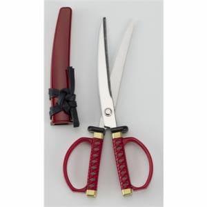 ニッケン刃物 SW-18R 日本刀ハサミ 赤 関伝の美