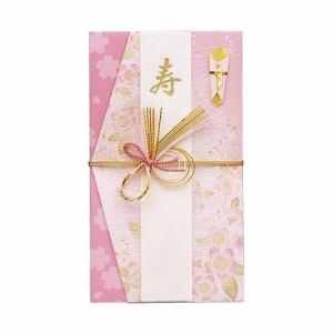 マルアイ キ-597P デザイン金封 hana 和風 ピンク