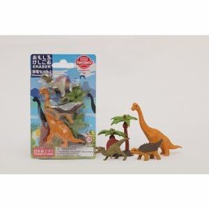 イワコー ER-BRI057 ブリスター消しゴム 恐竜セット2