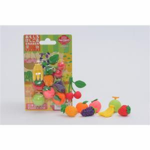 イワコー ER-BRI024 ブリスター消しゴム 果物
