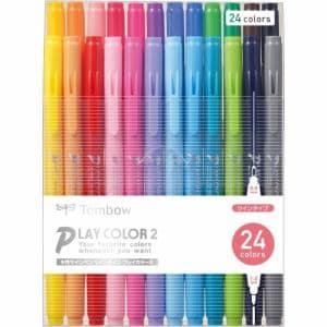 トンボ鉛筆 GCB-012 プレイカラー2  24色