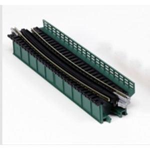 カトー (N) 20-466 ユニトラック 単線デッキガーダー 曲線鉄橋R448-15°(緑)