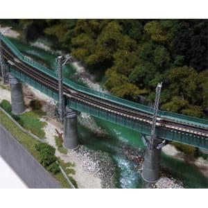 カトー (N) 20-823 ユニトラック カーブ鉄橋セット R448-60°(緑)