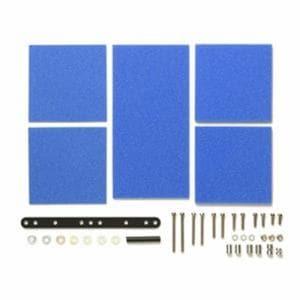 タミヤ グレードアップパーツシリーズ No.512 ブレーキスポンジセット(マイルド 1/2/3mm ブルー)(15512)ミニ四駆パーツ