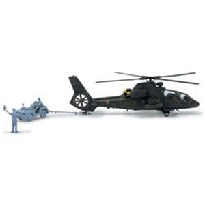 アオシマ 1/72 ミリタリーモデルキット No.15 陸上自衛隊 観測ヘリコプター OH-1 ニンジャ&トーイングトラクターセット プラモデル