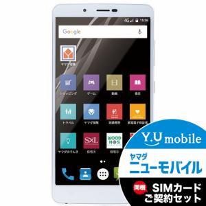 ヤマダ電機オリジナルモデル EP-171AC/G Android搭載SIMフリースマートフォン EveryPhone AC ゴールド&Y.U-mobile ヤマダニューモバイルSIMカード(契約者向け)セット
