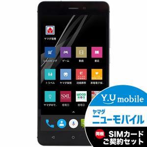 ヤマダ電機オリジナルモデル EP-172BZ/B DSDS対応 SIMフリースマートフォン EveryPhone BZ  ブラック&Y.U-mobile ヤマダニューモバイルSIMカード(契約者向け)セット