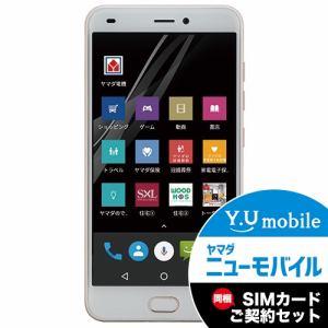 ヤマダ電機オリジナルモデル EP-172PR/G DSDS、デュアルカメラ搭載 SIMフリースマートフォン EveryPhone PR  ゴールド&Y.U-mobile ヤマダニューモバイルSIMカード(契約者向け)セット