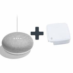 Google GA00210-JP Google Home Mini チョーク + ラトックシステム スマート家電リモコン RS-WFIREX4 同時購入セット