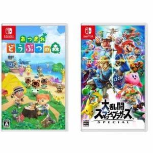 任天堂 Switchソフト「あつまれ どうぶつの森」+「大乱闘スマッシュブラザーズ SPECIAL 」セット