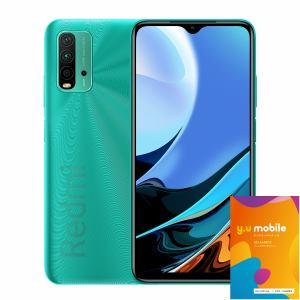 Xiaomi シャオミ  Redmi 9T Ocean Green オーシャングリーン&Y.U-mobile y.u mobile SIMカード エントリーパッケージ セット