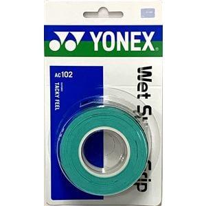 ヨネックス AC102 ウェットスーパーグリップ(3本入)   グリーン