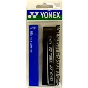 ヨネックス AC130 ウェットスーパー極薄グリップ(1本入)   ブラック