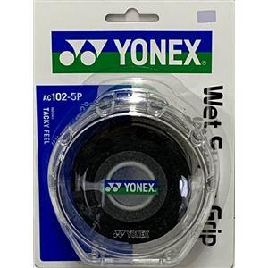 ヨネックス AC102-5P ウェットスーパーグリップ(5本入) ケース付き   ブラック