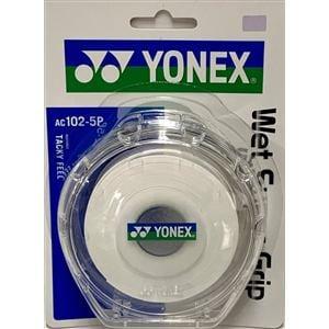 ヨネックス AC102-5P ウェットスーパーグリップ(5本入) ケース付き   ホワイト