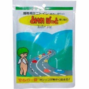 ミナト製薬  といれぽっと 携帯用ミニトイレ(紙おしぼり付)  1袋入