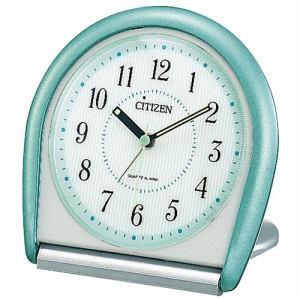 リズム時計 4GE958-005 目覚まし時計 メザマシトケイ 緑メタリック色