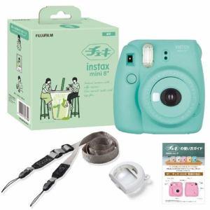 富士フイルム INSMINI8PLUSMINT インスタントカメラ 「チェキ」 instax mini 8+ ミント
