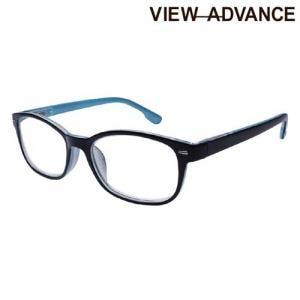 エニックス VAF-12-1 2.00 シニアグラス VIEW ADVANCE +2.00度 シャイニーブラック/ライトブルー