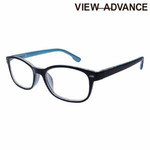 エニックス VAF-12-1 3.00 シニアグラス VIEW ADVANCE +3.00度 シャイニーブラック/ライトブルー
