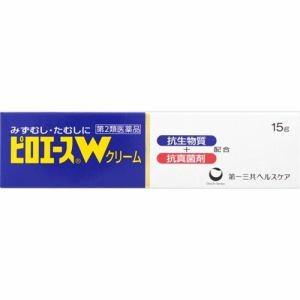 第一三共ヘルスケア(Daiichi-Sankyo) ピロエースWクリーム 15g 【第2類医薬品】