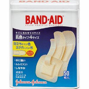 ジョンソン・エンド・ジョンソン(Johnson & Johnson) バンドエイド 肌色タイプ 4サイズ (50枚) 【医療機器】